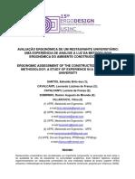 AVALIAÇÃO ERGONÔMICA DE UM RESTAURANTE UNIVERSITÁRIO