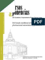 García Linera-Del Estado Neoliberal Al Estado Plurinacional autonómico y productivo
