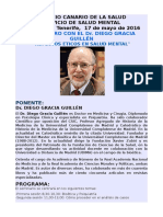Programa. Diego Gracia Tenerife