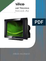 Manual Tec. Tv Philco Mod.ph21us-A1