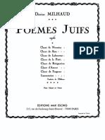 Milhaud - Poèmes Juifs, Op. 34 (Voice and Piano)