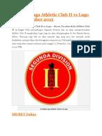 Prediksi Laga Athletic Club II vs Lugo 22 Desember 2015
