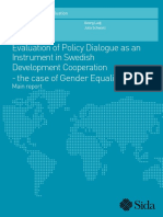 Evaluation of Policy Dialogue as an Instrument in