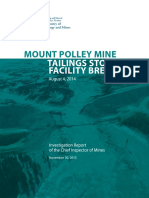B.C. mines inspector report on Mount Polley