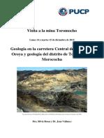 Geología.Toromocho