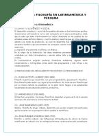 Filosofía en Latinoamérica y Peruana