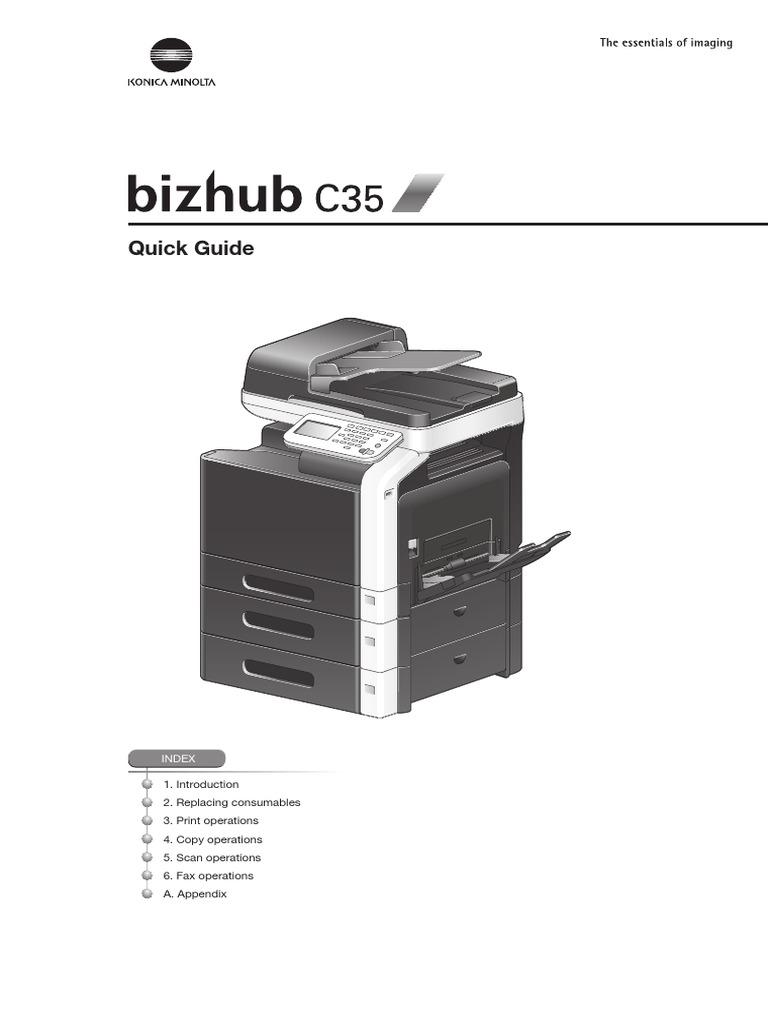 Konica Minolta bizhub C35   Image Scanner   Fax