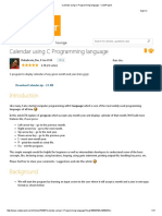 Calendar Using C Programming Language - CodeProject1
