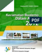 Kecamatan Bualemo Dalam Angka 2012