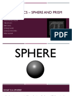 Mathematics – Sphere and Prism