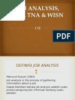 Job Analysis, Lna, Tna & Wisn1