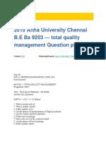2010 Anna University Chennai B