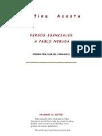 Acosta, Delfina - Versos Esenciales a Pablo Neruda