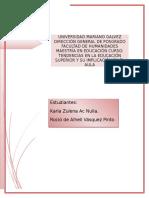 Tendencias y Evaluación Diagnóstica