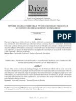 FIALHO, Tensões e Dinâmicas Territoriais