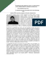El Principio de Mutabilidad Del Servicio Civil y La Movilidad de Personal en El Ordenamiento Jurídico de Bolivia