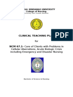 Clinical Teaching Plan Level IV First Semester