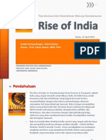 Slide About Rise of India Book by Unggul Cariawan Dkk