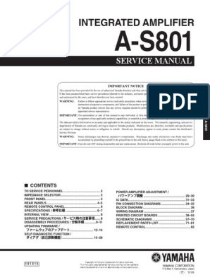 yamaha wiring diagram bose 901 to powered mixer yamaha a s801 pdf solder tin  yamaha a s801 pdf solder tin