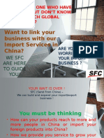 Import and fullfilment Services From China