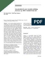 Biorremediación de Arsénico a través de una Bacteria Oxidadora