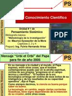 PS UT1 - 2011 - El Conocimiento Científico