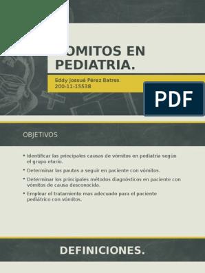 causas de vomitos en niños pdf