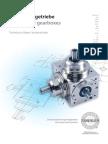 Spiralkegelgetriebe Technische Daten