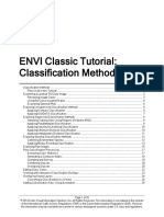 Classification Methods using Envi