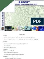 Raport de activitate al Centrului Naţional Anticorupţie pe anii 2014-2015