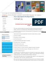 Creativeplc Com How to Start New Plastic Injection Moulding