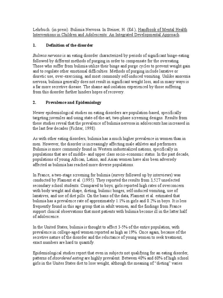 bulimia nervosa | bulimia nervosa | eating disorder