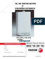 Manual Caldera Fagor Super Compact FE24E y FE27E