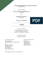 Arbitraža NEK, odločitev ICSID, 18.12.2015