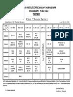 2013 Class Timetable Btech Mtech