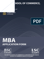 ARU MBA Application Form