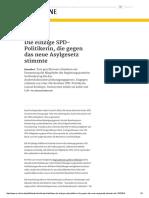 2015-10 Cansel Kiziltepe - Einzige SPD-Stimme gegen Asylrechtsverschaerfung
