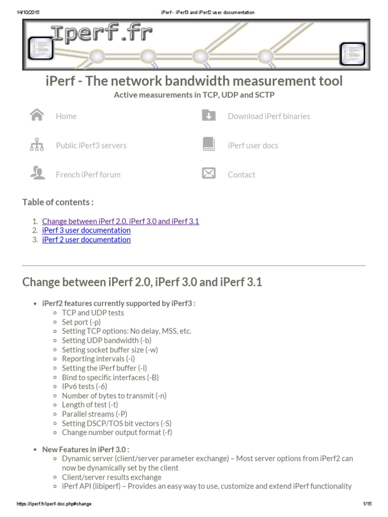 IPerf - IPerf3 and IPerf2 User Documentation | Transmission Control