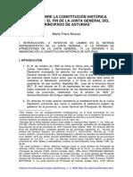 Notas Sobre La Constitución Histórica Asturiana; El Fin de La Junta General Del Principado de Asturias