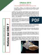 Newsletter di OTTOBRE 2015 del Gruppo PD di Zona 7-Milano