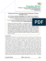 Package and Practices for Integrated Pest Management of Mango