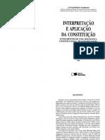 Barroso, Luis r - Interpretacao e Aplicacao Da Constituicao