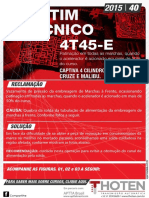 Boletim Tecnico 4T45-E