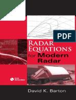 Radar Equations for Modern Radar