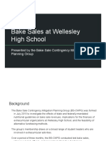 Wellesley High School student bake sale presentation