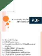 RADIO ACCESS NETWORK ARCHITECTURE