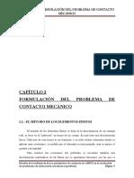 CAPÍTULO 2. FORMULACIÓN DEL PROBLEMA DE CONTACTO MECÁNICO