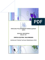 RPP BAHASA INDONESIA KTSP Kelas Viii Bagian 1 Smplb Ypac