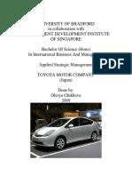 Toyota Strategic Mgt