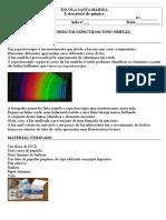 Construção de Um Espectroscópio